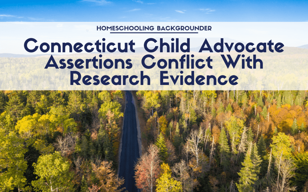 Connecticut Child Advocate Assertions Conflict with Research Evidence
