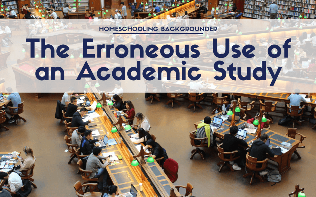The Erroneous Use of an Academic Study