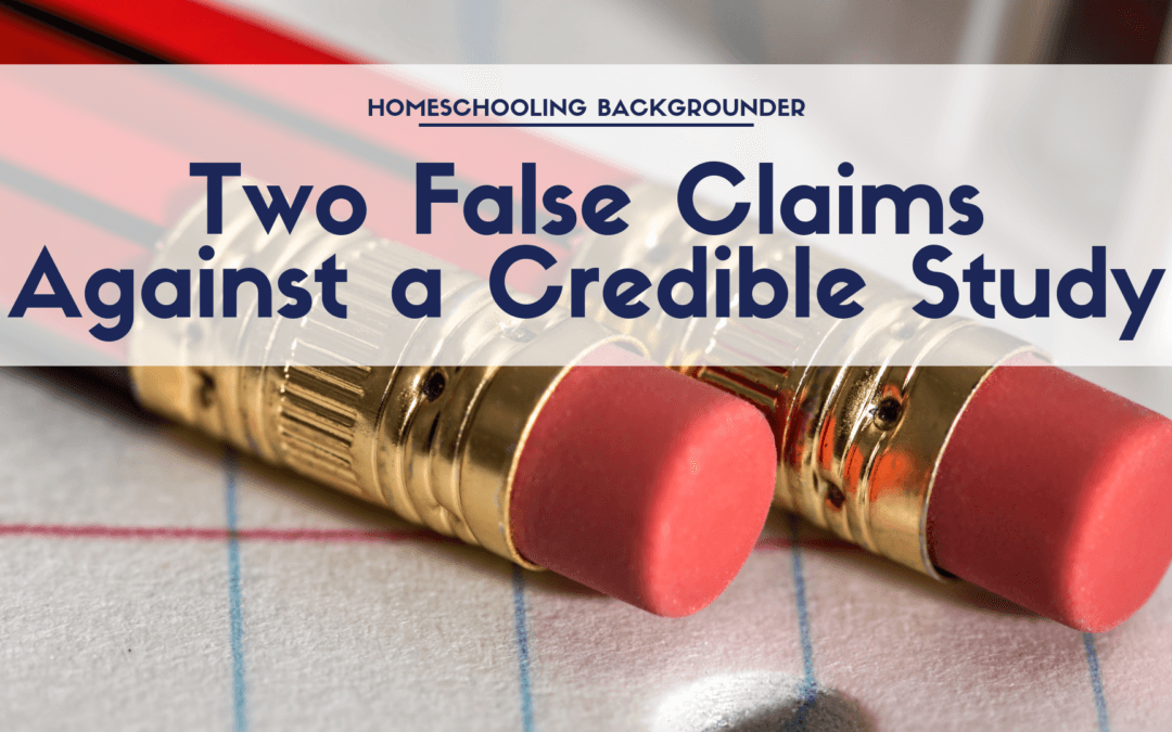 Two False Claims Against a Credible Study